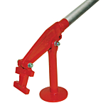 Stake extractor for removing stakes in the construction industry. Speedcrete, United Kingdom.