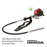 Combine the reliability of Honda commercial 4 stroke engines with the quality of Multi-Vibe poker units and you get an exceptional tool which is designed to last. Supplied by Speedcrete, United Kingdom