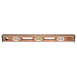 Sands Professional Stainless Steel Mahogany Level (6 Vials)
