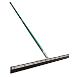 Rubber Squeegee 3ft wide with a 5ft handle.