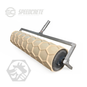 Agricultural roller pattern for concrete finishing safety for livestock.