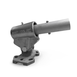 The Knucklehead float bracket attaches to fresnos and both 2-hole and 4-hole bull floats. Made of rugged, yet lightweight aluminIum for durability this essential tool can control the pitch of the blade and is used in Concrete Finishing groundwork projects