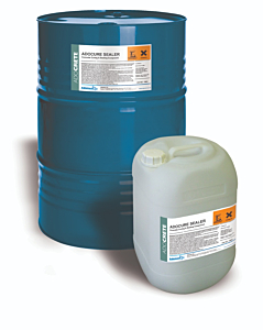 A clear acrylic polymer resin solution primarily for application to surfaces of freshly laid concrete where it has a double function, firstly to form a highly effective curing membrane that conforms to ASTM. C309. Available from Speedcrete, United Kingdom