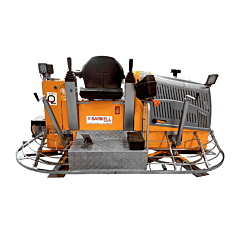 Barikell ride on power trowel, for concrete finishing.
