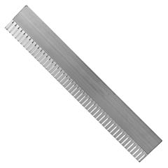 "48"" x 8"" Multi-Trac Bull Float Groover Blade - 1"" Spacing"