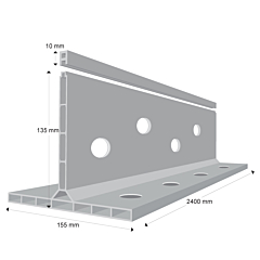 K FORM K135 Plastic In Place Screed Rail