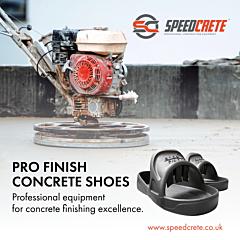 Pro finish concrete surfacing shoes, Speedcrete, United Kingdom.