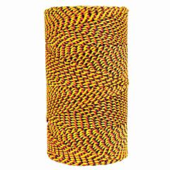 Super Tough Bonded Braided Nylon Line Orange, Black & Gold - 685'