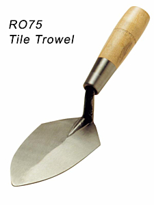 Rose Tile Brick Trowels  Wooden Grip