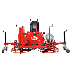 The RP235 was designed with the high volume concrete polisher in mind. These riding trowels come as designed to achieve high rotor speeds to achieve high torque while polishing, and they also come equipped with special dolly jacks that ensure transportati