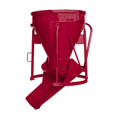 Twin-flow concrete skip, available from Speedcrete United Kingdom concrete suppliers.