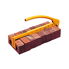 Adjustable yellow brick tong, brick tools from Speedcrete, United Kingdom.
