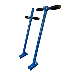 Adjustable height tamp beam handles